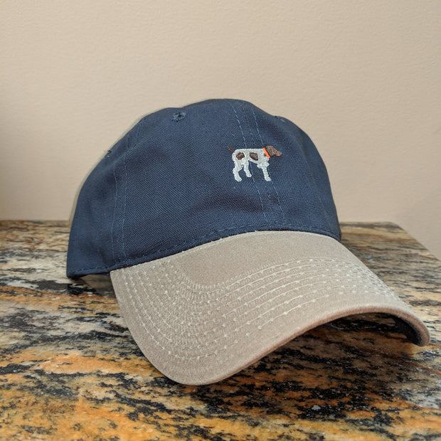 Navy Canvas with Waxed Bill Hat