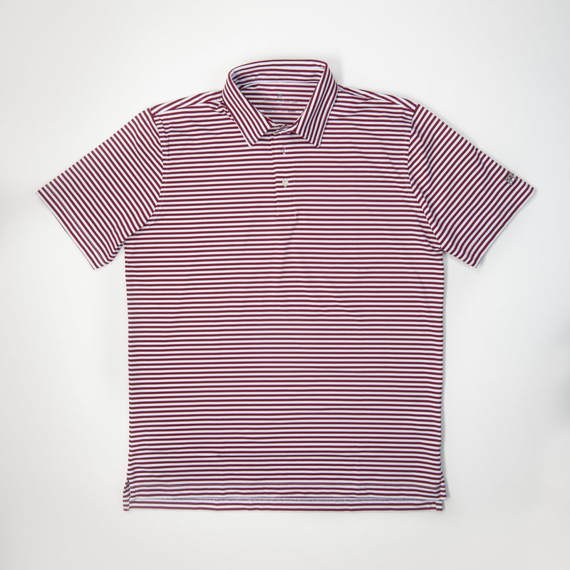 Youth Performance Polo- Crimson