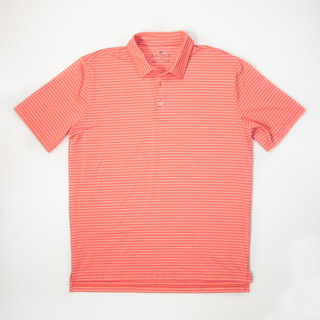 Performance Polo- Peach Bud