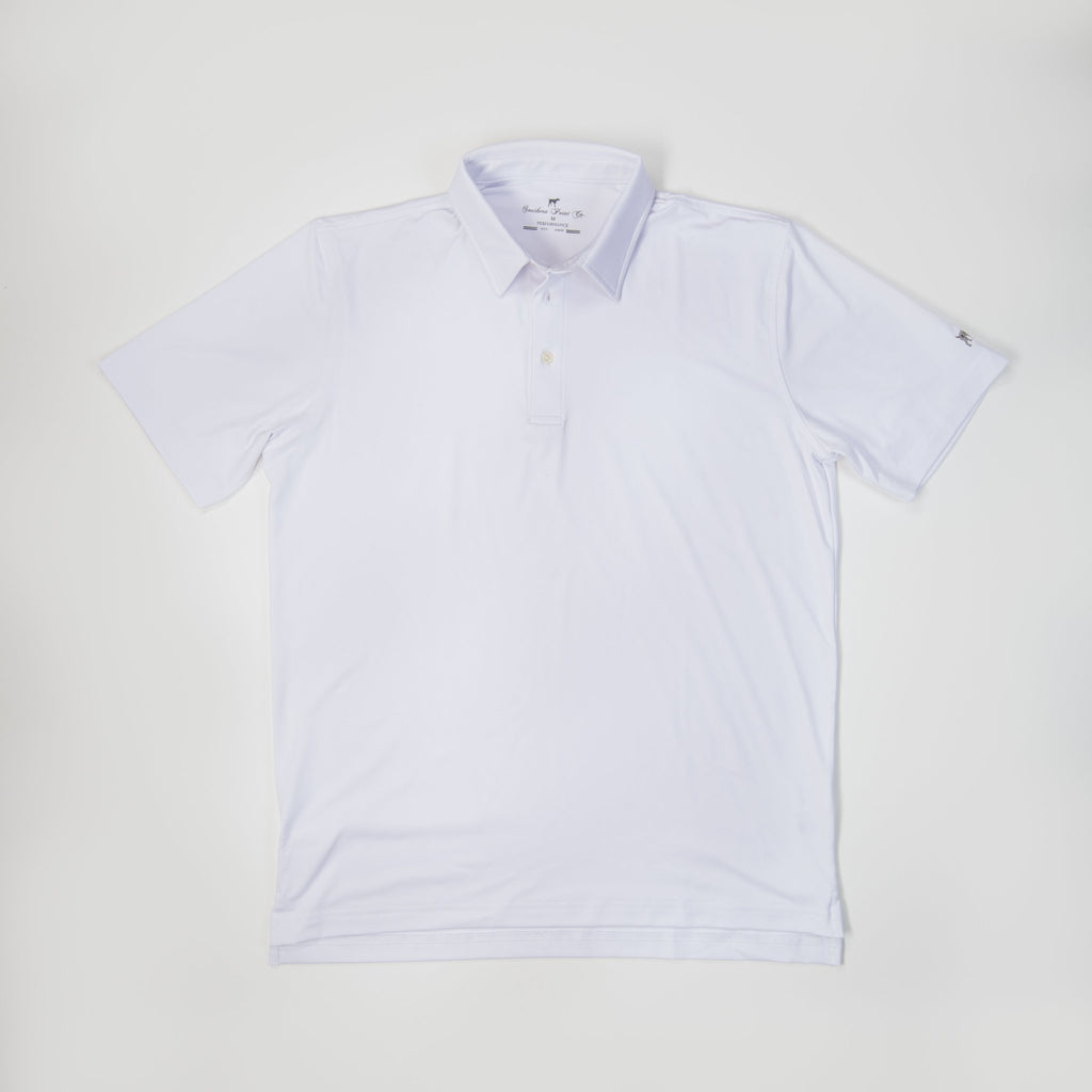 Youth Performance Polo- White