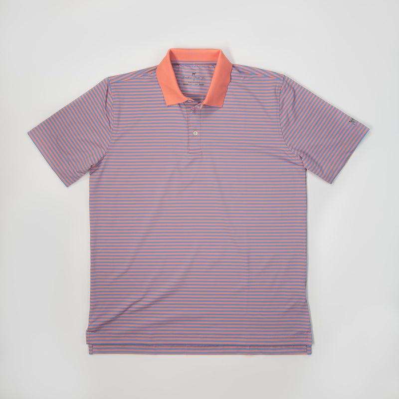 Performance Polo- Peach/Kentucky Blue