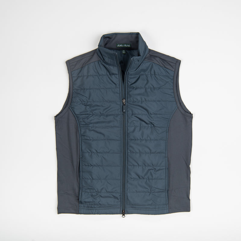 Youth Grey Quilted Vest