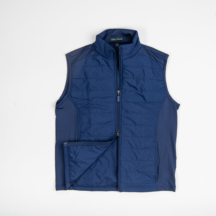 Youth Navy Quilted Vest