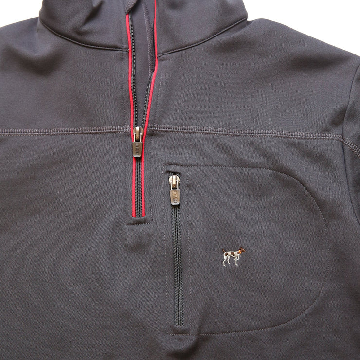 Grey/Red Tradition Tech Pullover