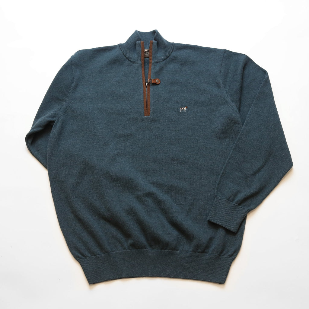 Blue Hayward Quarter Zip