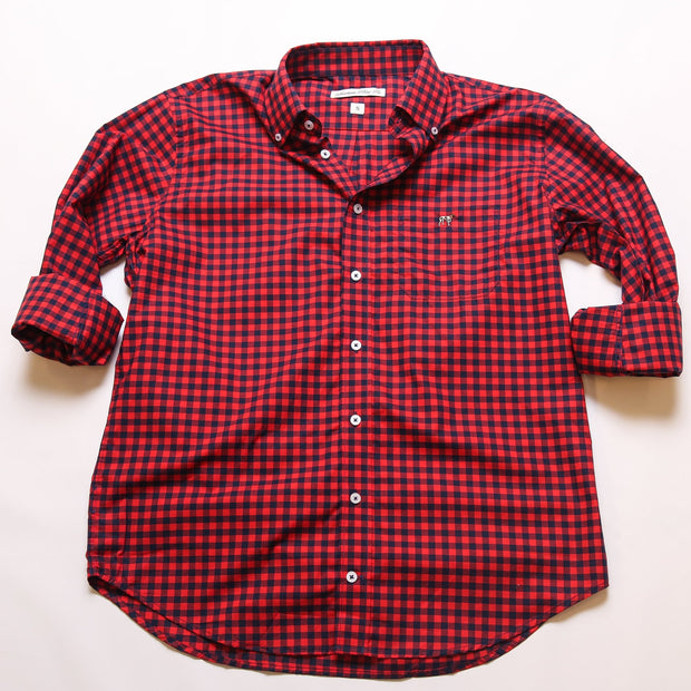 Navy & Red Tradition Button Down