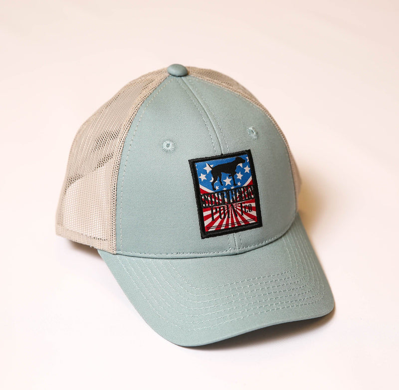 Teal Old School Trucker Hat