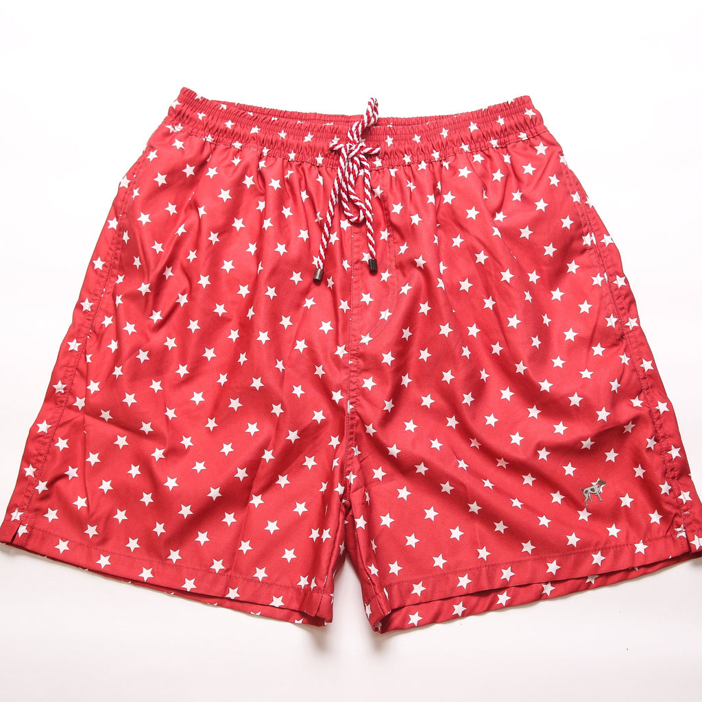 Youth Red Patriotic Stars Trunks