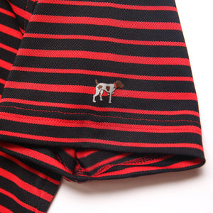 Fairway Stripe - Black/Red