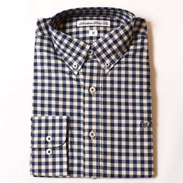Navy & Cream Gingham