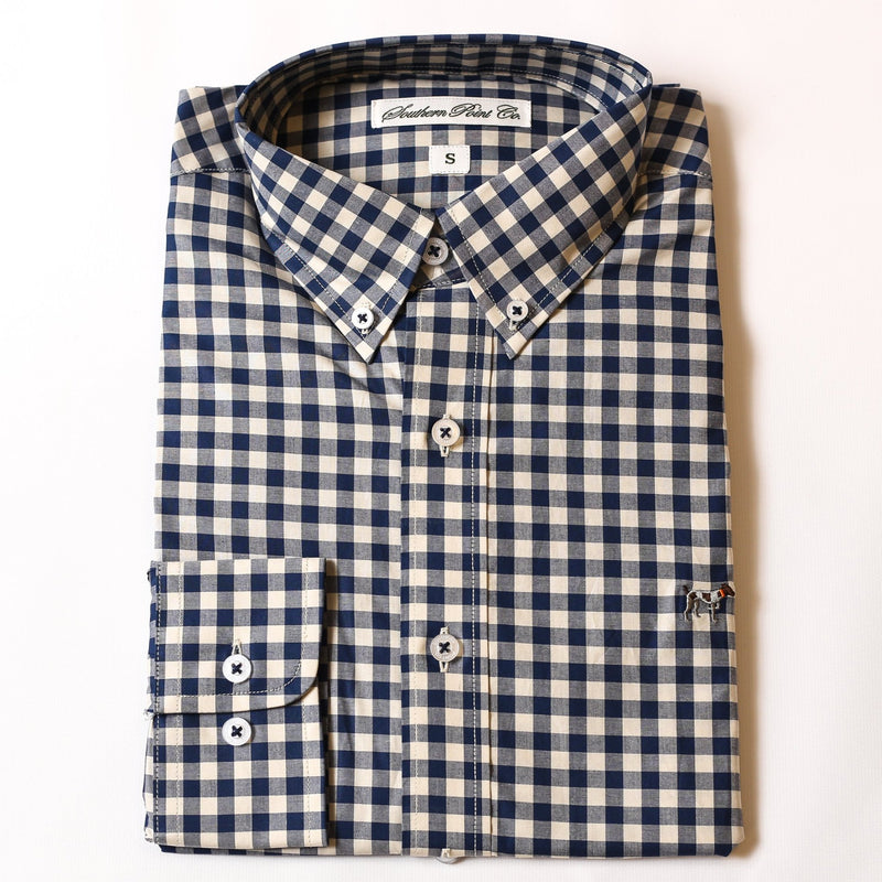 Youth Navy & Cream Gingham