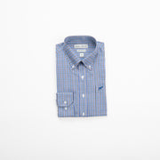 Blue Bamboo Check