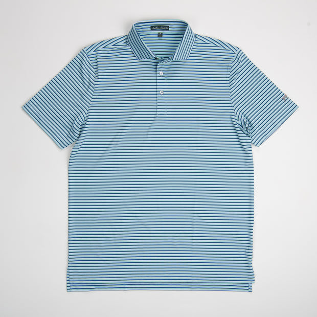 Youth Blueberry Performance Polo