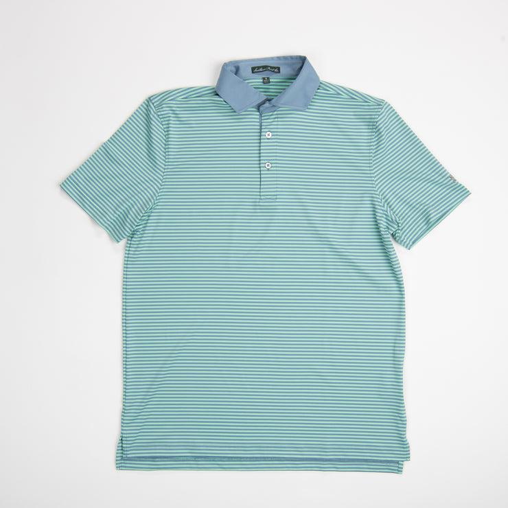 Faded Denim Performance Polo