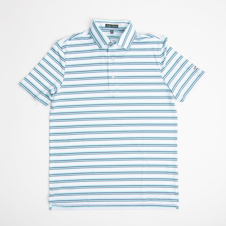 Bleached Aqua Performance Polo