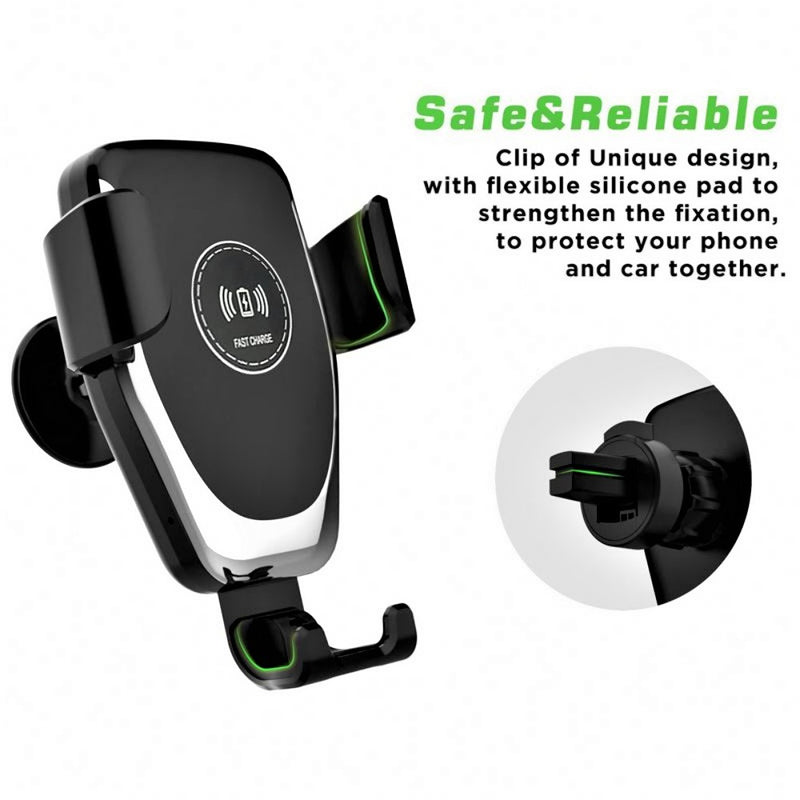 Q12 Qi Wireless Car Charger Phone Holder