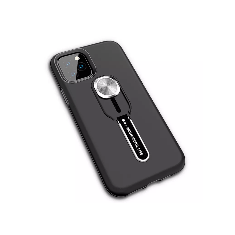 Wonderful Life Luxury Shockproof Phone Case w/ kickstand, magnet for magnetic mount and finger grip for Iphone XR, Iphone 11 Pro, Samsung S20 - Dmg Electronics