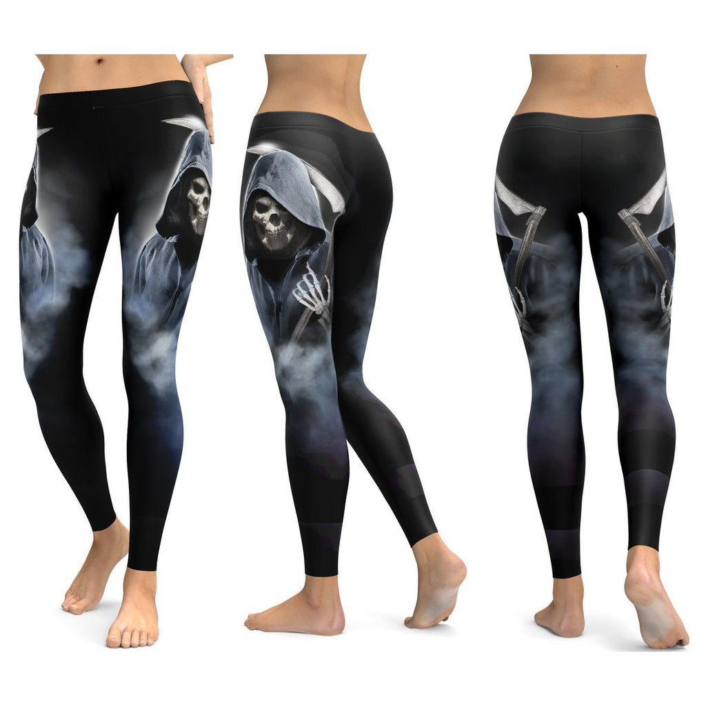 4170b05659e3e9 Skull Leggings Yoga Pants Women Sports Pants Fitness Running Sexy Push Up  Gym Wear Elastic Slim