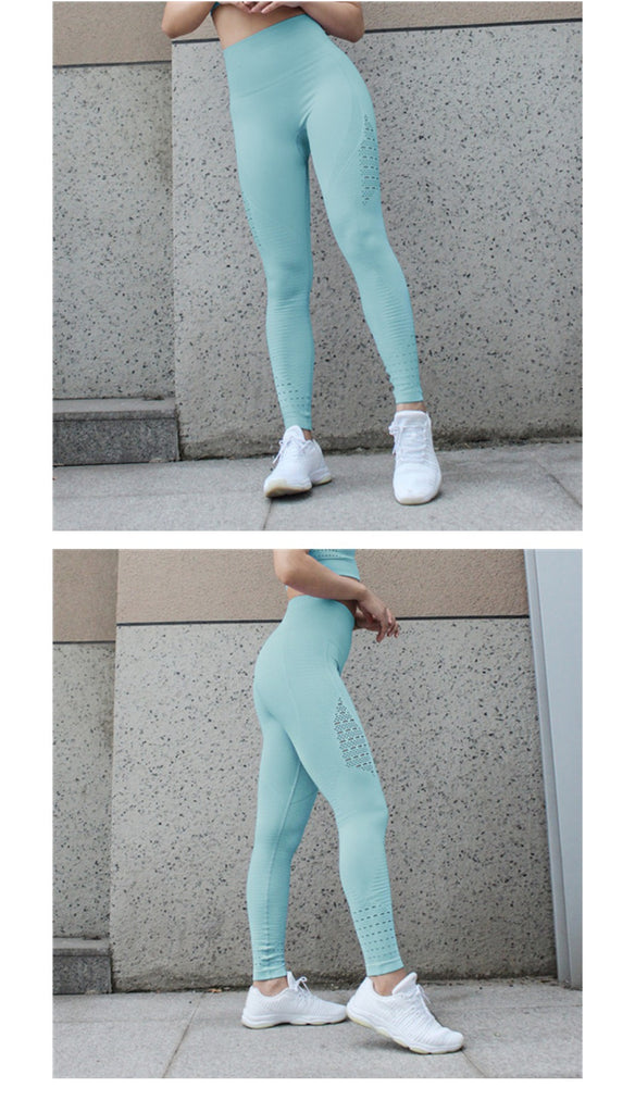 36c66a55580fb7 High Waisted Yoga Pants Shark Gym Seamless Leggings High Elastic Exercise  Tights Women Pants for Fitness