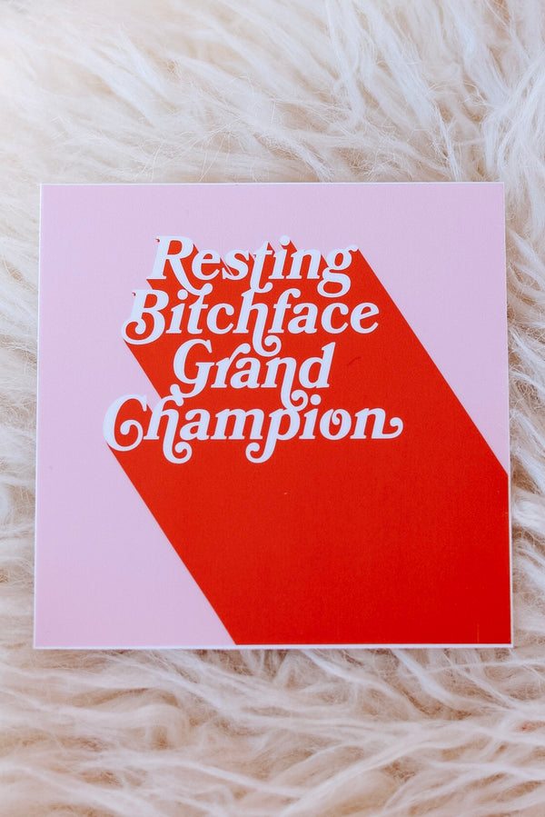 RBF Grand Champ Sticker
