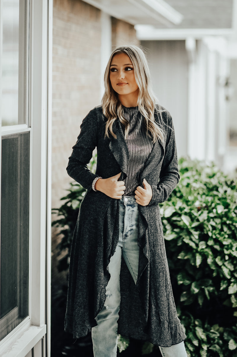 Charlie in Charcoal Cardigan