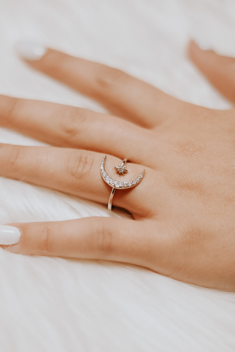 To The Moon & Back Ring