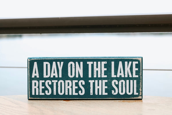 Day on the Lake Sign