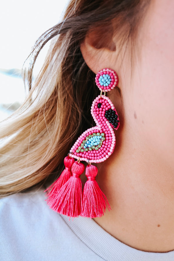 Frieda Flamingo Earrings