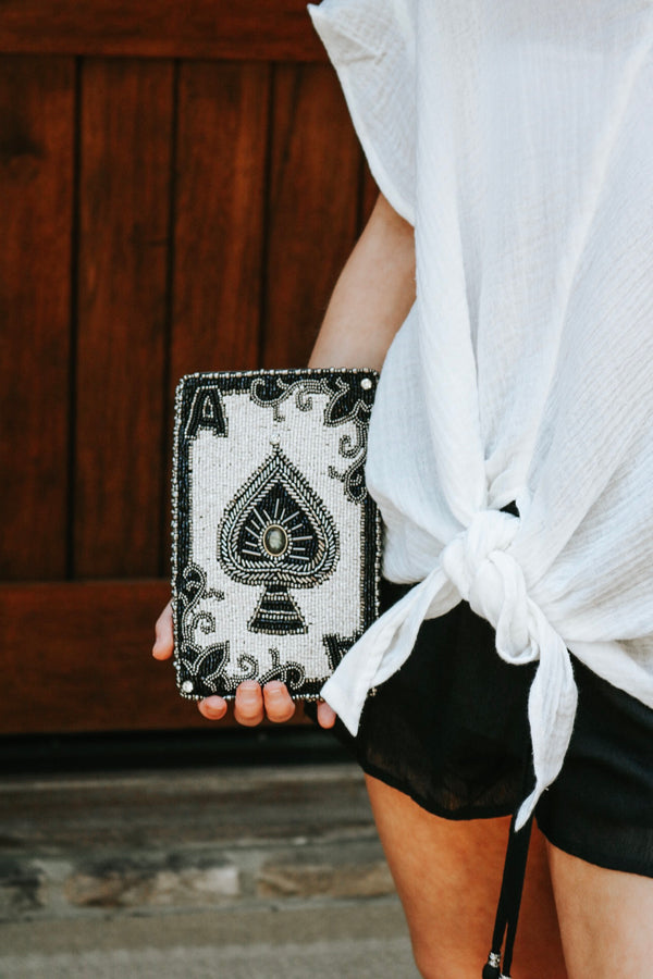 Ace of Spades Crossbody Phone Bag