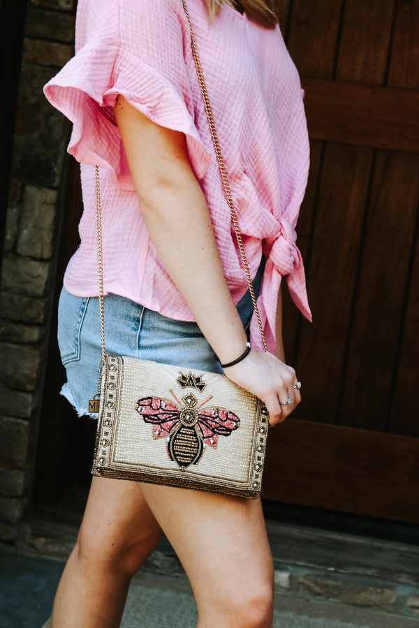 Queen Bee Crossbody Clutch
