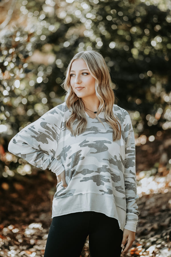Callie In Camo Top