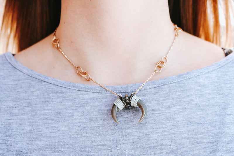 Dallas Horn Necklace