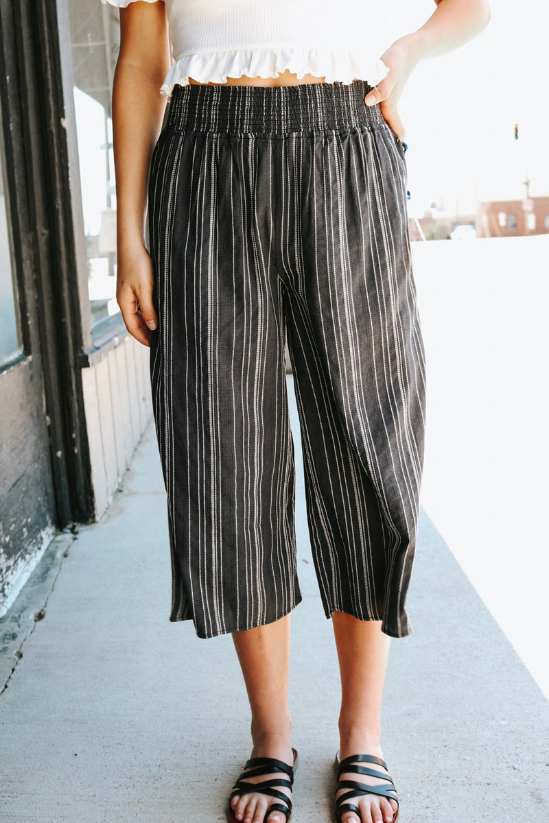 Charcoal Boardwalk Pants