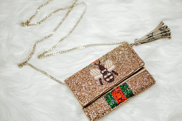 Gucci Beaded Clutch