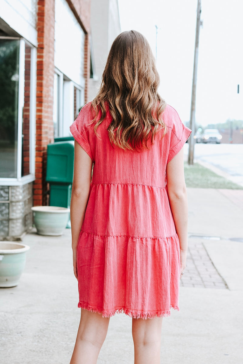Buttoned Beauty Dress