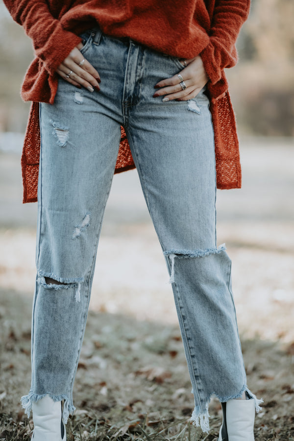 My Boyfriend Distressed Jeans