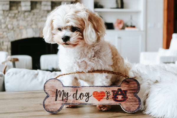Auburn Dog Bone Sign
