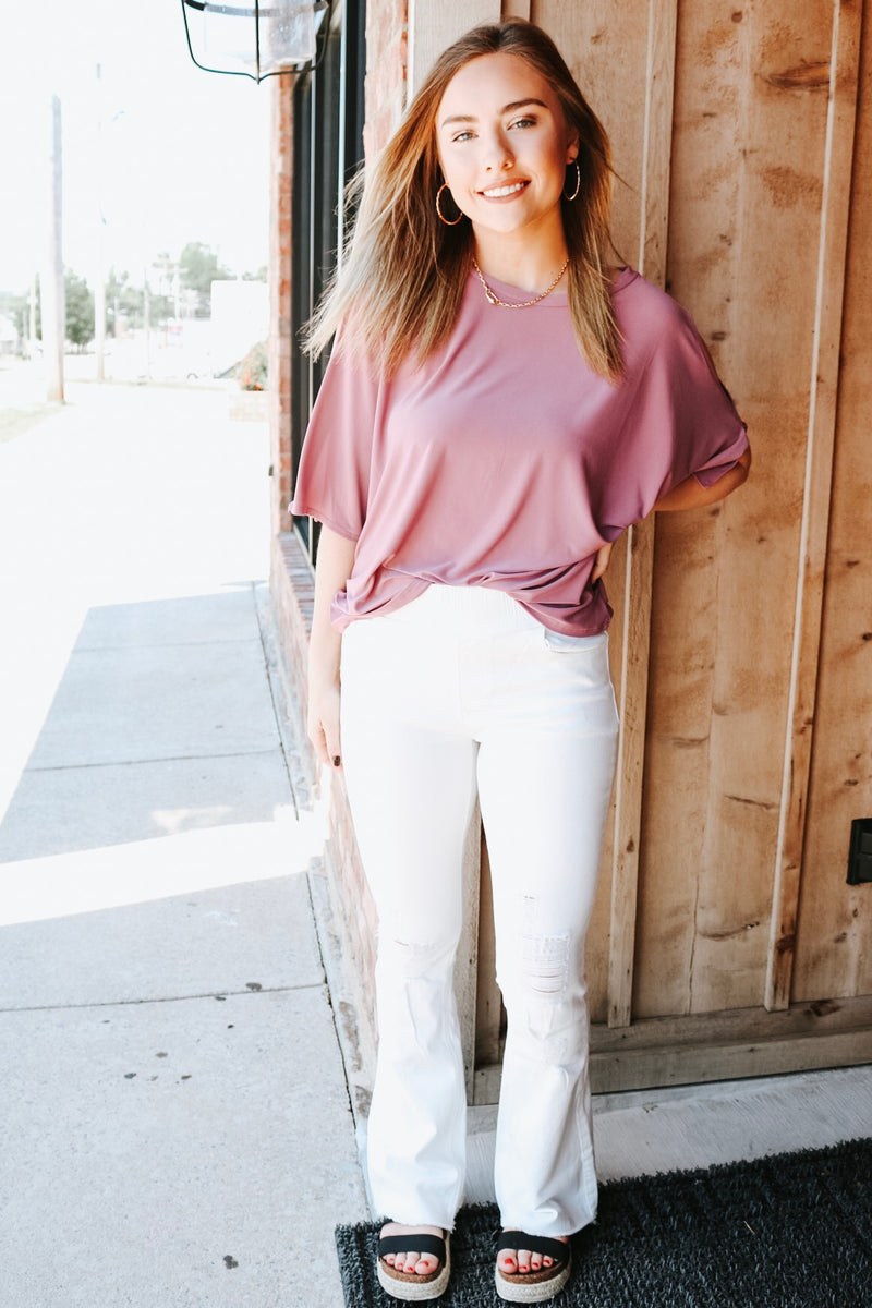 Shining in Mauve Top