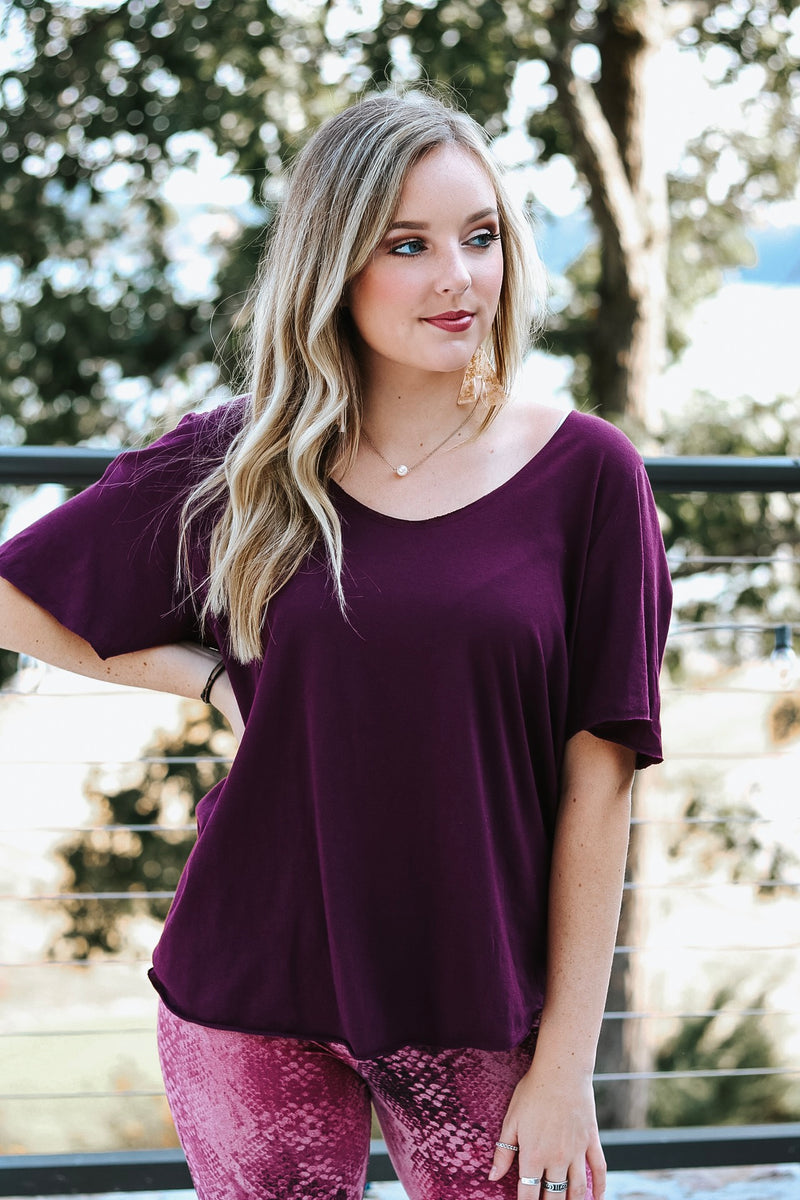 Perfect in Plum Top
