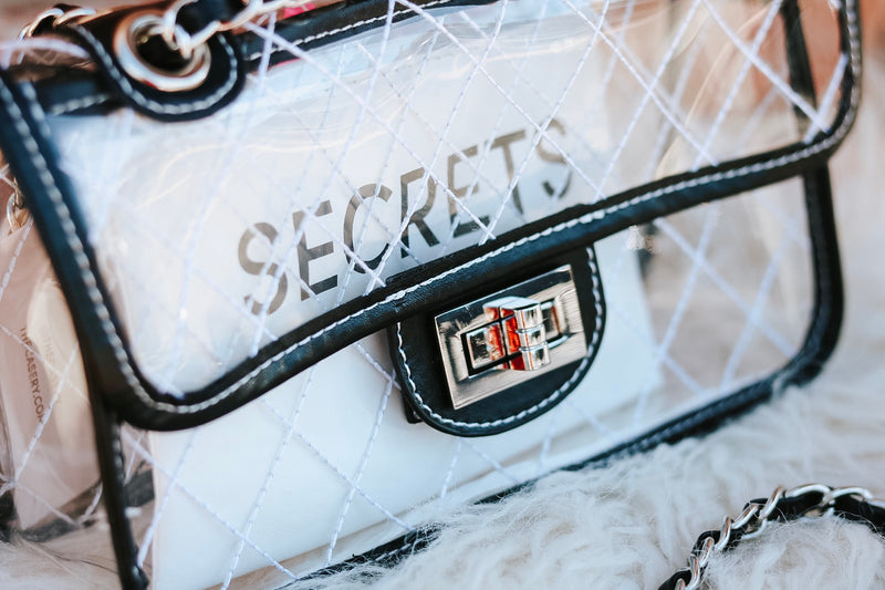 No Secrets Clear Crossbody