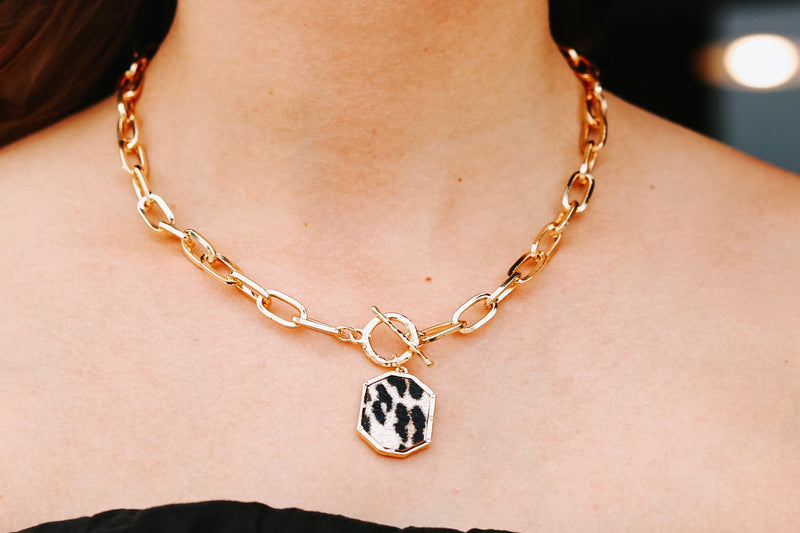 Chained Cheetah Necklace