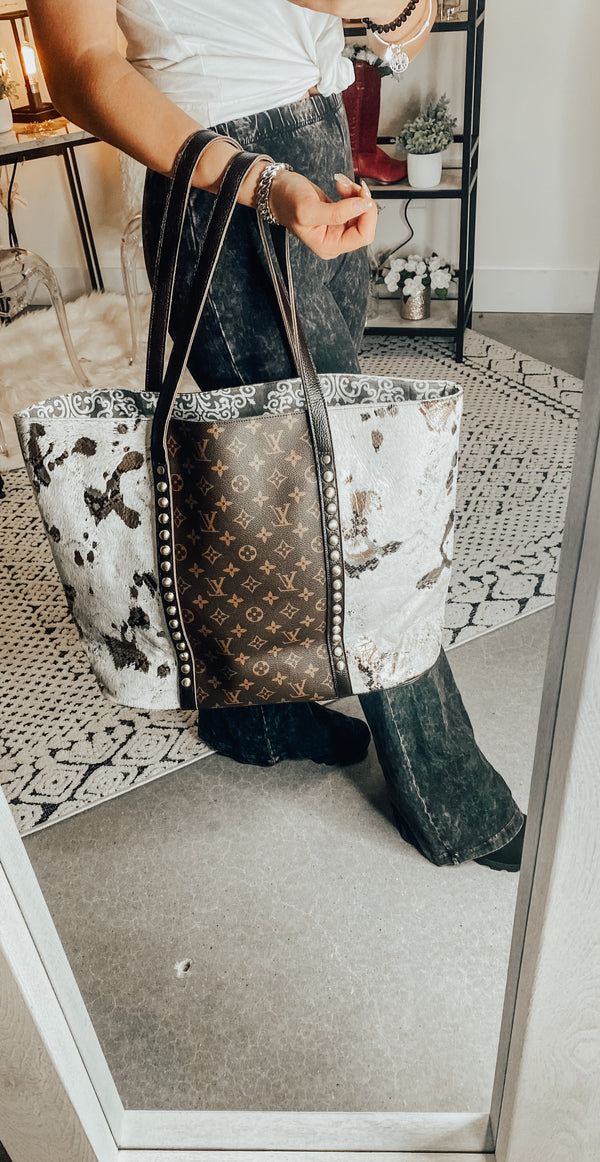 LV Inspired Leather Tote