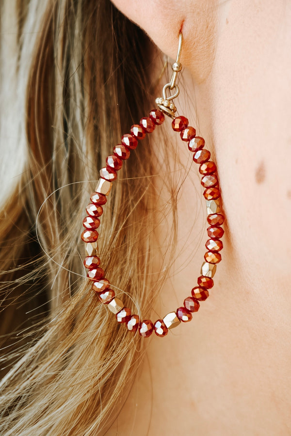 Karli Crimson Earrings