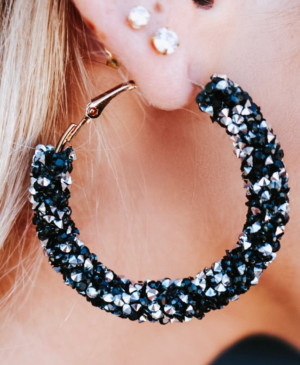 Skylar Studded Hoops