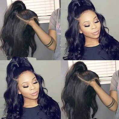 BLACK BODY WAVE  WIG-140%(Extra Thick As In Video)