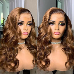 Flawless Brown Black Wig-140%(Extra Thick As In Video)