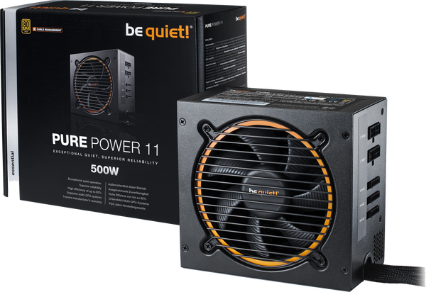 ALIMENTATION BE QUIET! PURE POWER 11 CM 600W 80+ GOLD modulaire