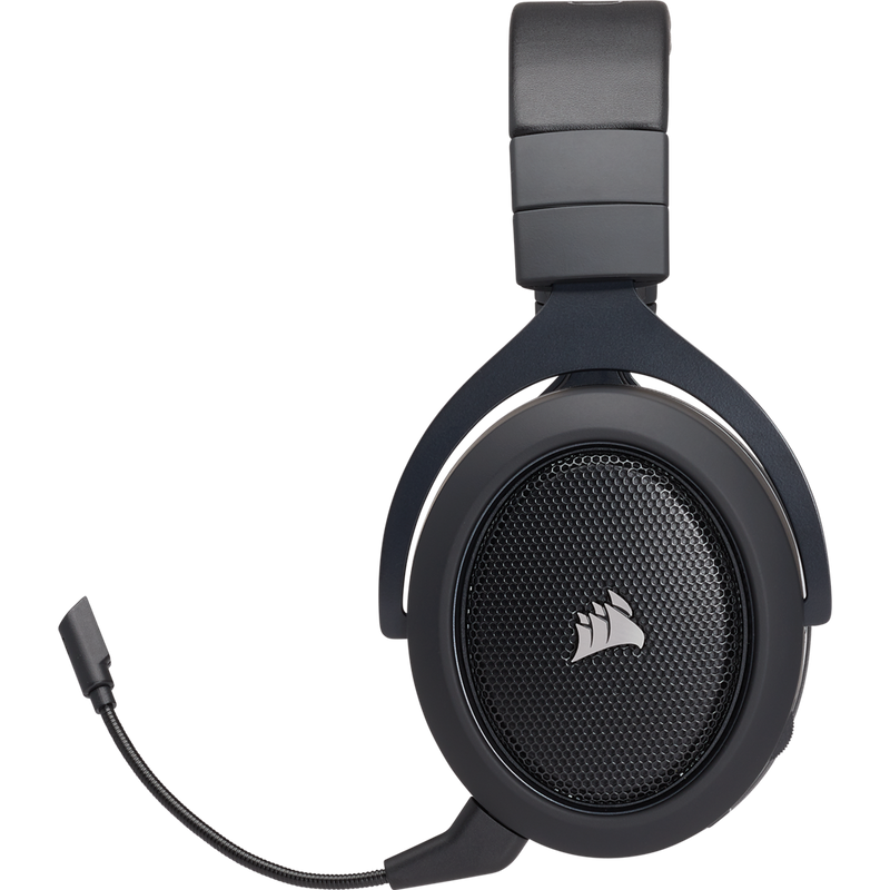 Vue de coté du Casque Corsair gaming HS70 WIRELESS