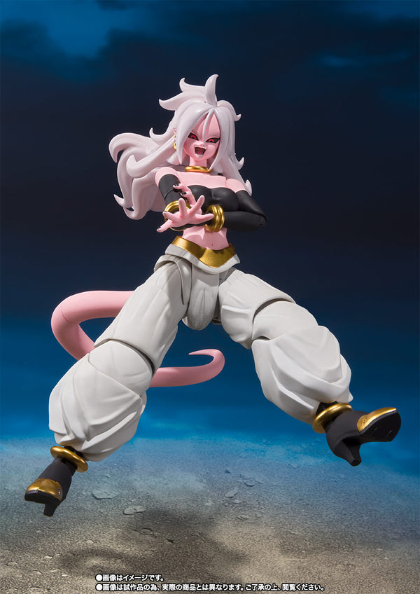 "Figurine 100% Original BANDAI S.H.Figuarts Exclusive - Android No. 21 de ""Dragon Ball Fighterz"""