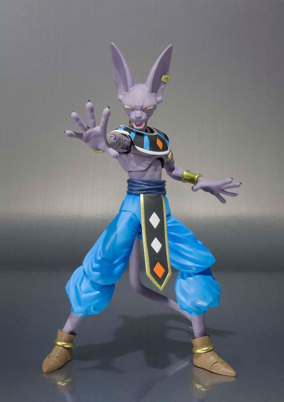 "Figurine 100% Original BANDAI S.H.Figuarts - Beerus de ""Dragon Ball SUPER"""
